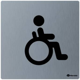 Stainless steel toilet sign DISABLED
