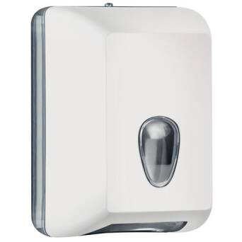 Single sheet toilet paper dispenser white