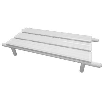 Bathtub bench for disabled white steel