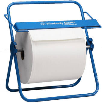 Roll wiper dispenser blue steel Kimberly Clark