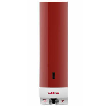Touch-free Compact foaming soap dispenser red
