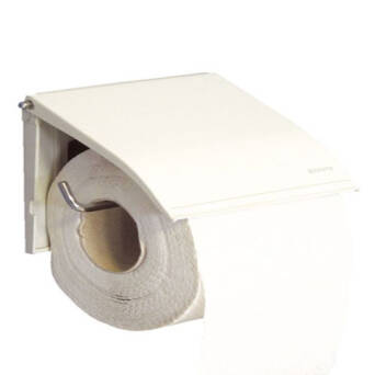 Toilet paper holder white steel
