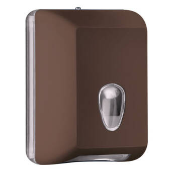 Single sheet toilet paper dispenser brown