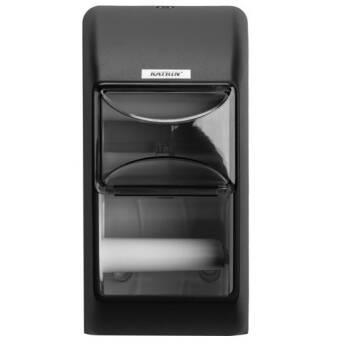 Dispenser for conventional toilet roll paper double Katrin black