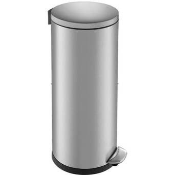 Trash can 30 litres TOP SILENT LUNA stainless steel matt