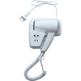 Hotel hair dryer white