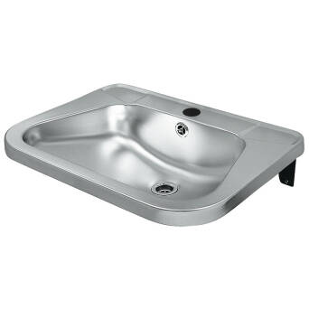 Stainless steel sink for public restrooms