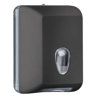 Single sheet toilet paper dispenser black