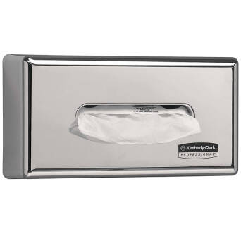 Tissue dispenser stainless steel Kimberly Clark