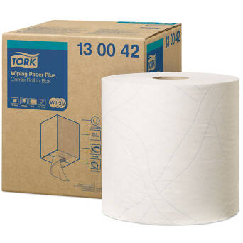 White paper wiper roll Tork W1 / W2 / W3
