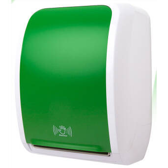 Touchless roll paper towel dispenser Cosmos green