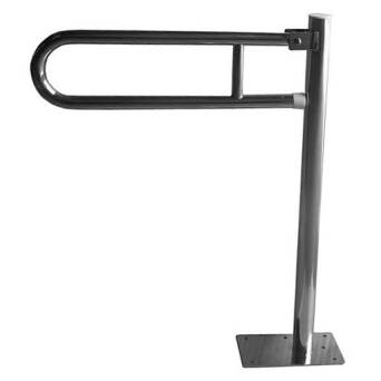 Removable vertical grab bar for disabled