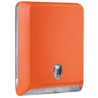 Folded paper towel dispenser L orange