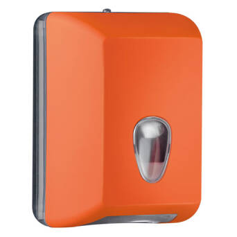 Single sheet toilet paper dispenser orange