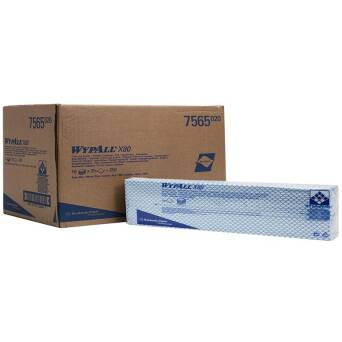 Blue cleaning cloths Kimberly Clark WYPALL X80