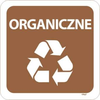 Sticker Organic recycling bin