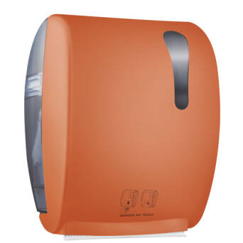 Roll paper towel dispenser orange