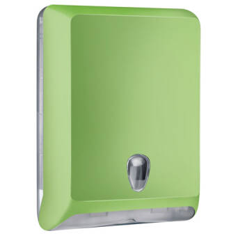 Folded paper towel dispenser L green