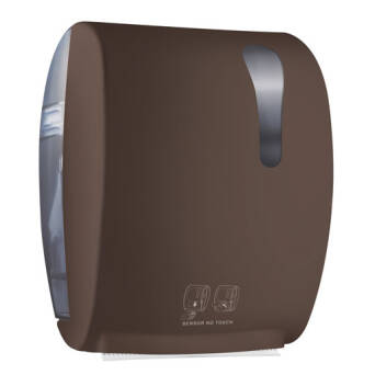 Roll paper towel dispenser brown