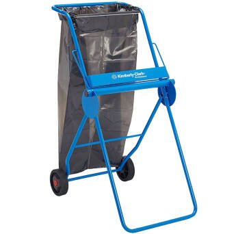 Floor stand wiper dispenser with bin bag holder Kimberly Clark