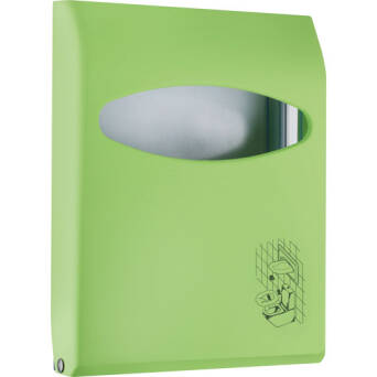 Toilet seat cover dispenser green