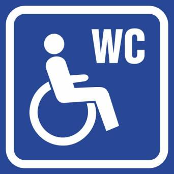 Marking toilets - toilet FOR DISABLED