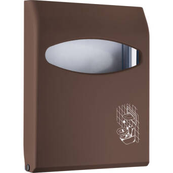 Toilet seat cover dispenser brown