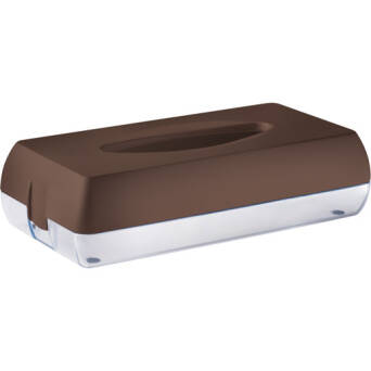 Toilet tissue dispenser brown