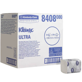 Toilet paper folded 7200 pcs. Kimberly Clark KLEENEX@ ULTRA