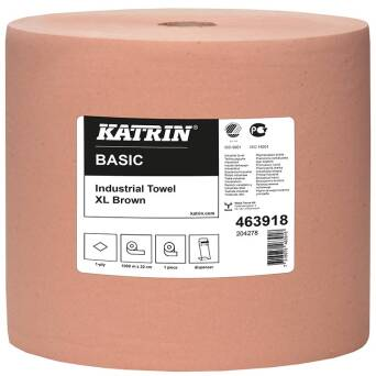 Katrin Basic Industrial Towel XL Brown 1000 m