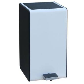 Metal trash bin 7l white