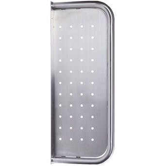 Stainless steel urinal divider
