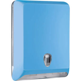 Folded paper towel dispenser L blue