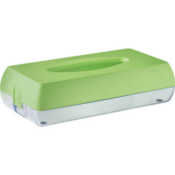 Toilet tissue dispenser green