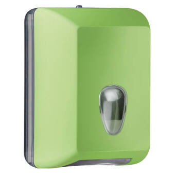 Single sheet toilet paper dispenser green