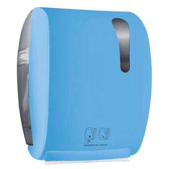 Roll paper towel dispenser blue