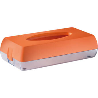 Toilet tissue dispenser orange