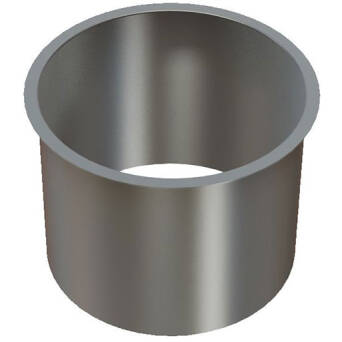 Flange for under counter waste bin Merida stainless steel