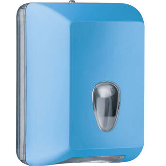 Single sheet toilet paper dispenser blue