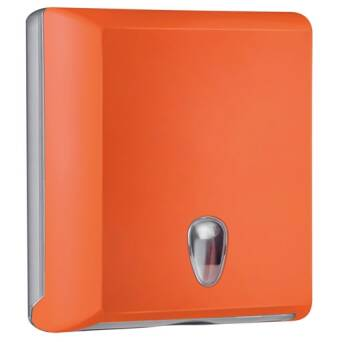 Folded paper towel dispenser M orange