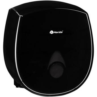 Toilet paper dispenser Merida COMO black plastic