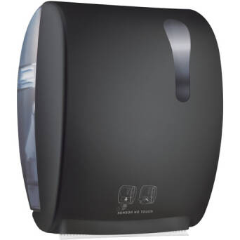 Roll paper towel dispenser black