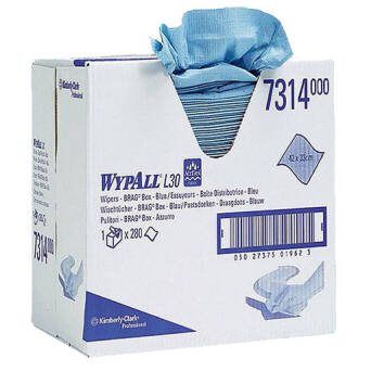 Blue folded paper wiper 280 p. Kimberly Clark WYPALL L20