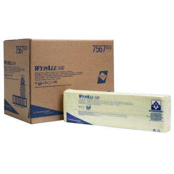 Cleaning yellow cloths Kimberly Clark WYPALL X80