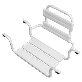 Bathtub seat for disabled white steel