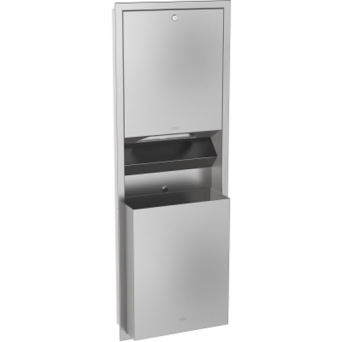 Set towel dispenser + waste container cavity RODAN