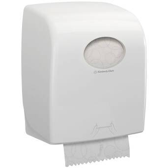 Folded paper towels white dispenser Kimberly Clark
