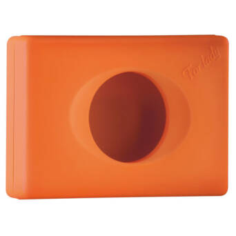 Sanitary bags dispenser orange