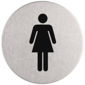 Stainless steel Woman's toilet sign SISO