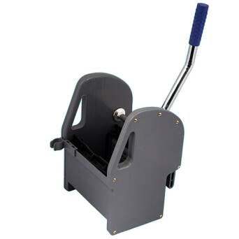 Mop wringer for cleaning trolleys